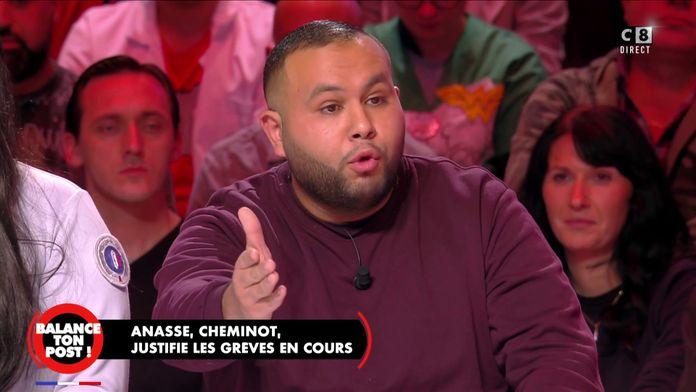 """Anasse Kazib, cheminot justifie les grèves des transports : """"J'aimerai partir à la retraite à 60ans"""""""
