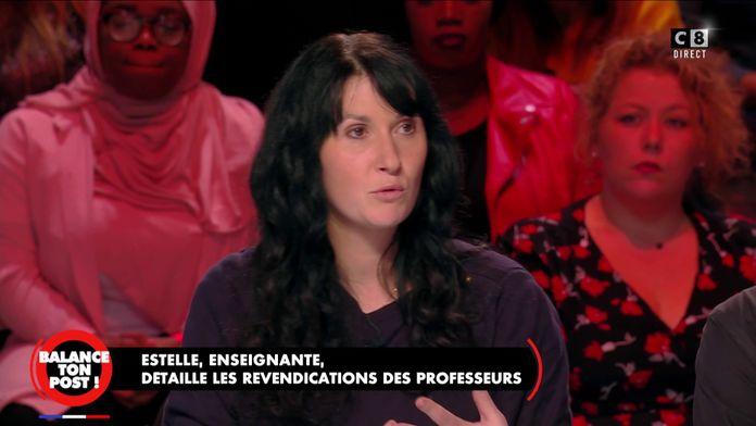 """Estelle, enseignante détaille les revendications des professeurs : """"On va rester mobiliser"""""""