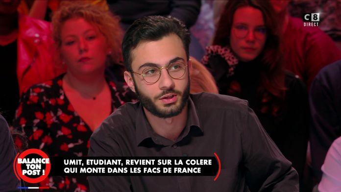Umit, étudiant de 19 ans réclame un revenu étudiant à hauteur de 800/900 euros par mois