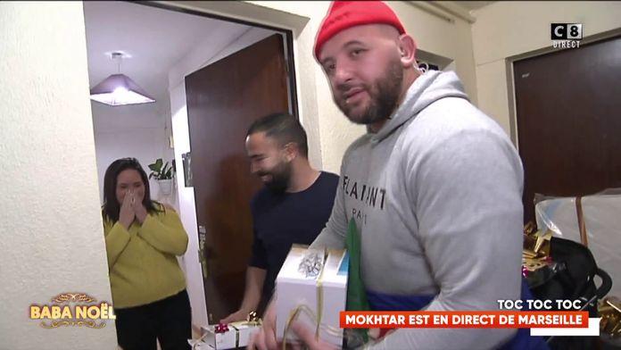 Mokhtar régale une famille à Marseille lors du Baba Noël !