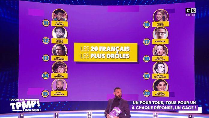Cyril Hanouna entre dans le classement GQ des Français les plus drôles à la 15e place !