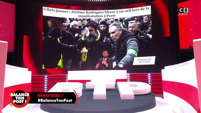 Jérôme Rodrigues envoie un SMS à Cyril Hanouna pour réagir au débat des violences policières