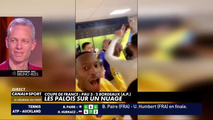 La réaction de Bruno Irlès après l'exploit de Pau