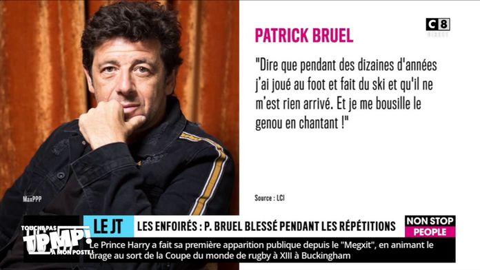 Patrick Bruel se blesse gravement lors du concert des Enfoirés