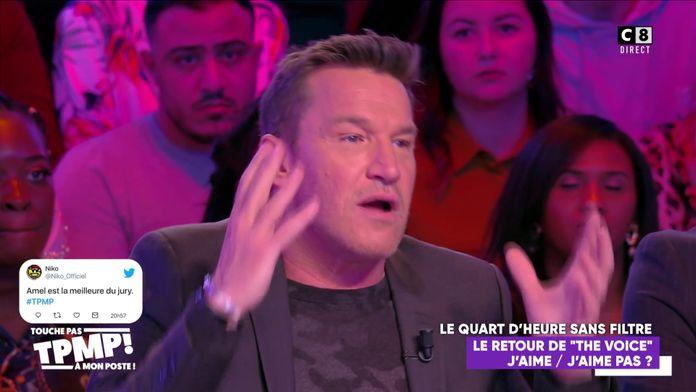 """Benjamin Castaldi s'insurge contre une prestation dans """"The Voice"""" et défend Mennel"""