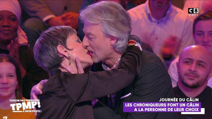 Gilles Verdez embrasse langoureusement Isabelle Morini-Bosc