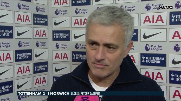 La réaction de Mourinho après le retour d'Hugo Lloris