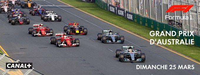 Reprise Championnat du monde de Formule1TM - Grand Prix d'Australie Dimanche 25 mars