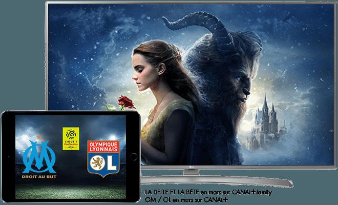 La Belle et la Bête en mars sur CANAL+ Family / Ligue 1 Conforama OM - OL en mars sur CANAL+