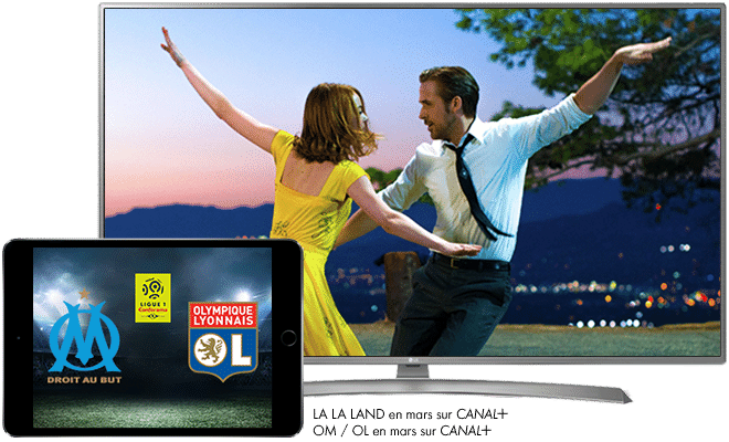 La La Land en mars sur CANAL+ / Ligue 1 Conforama OM - OL en mars sur CANAL+