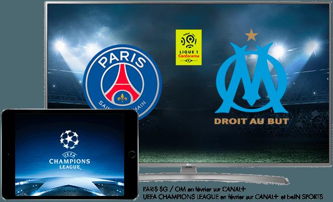 PSG - OM en février sur CANAL+ / 1/8ème de finale de l'UEFA Champions League