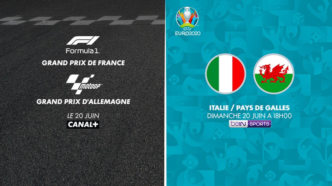 Formula 1 sur CANAL+ / Italie - Pays de Galles diamnche 20 juin sur beINSPORTS