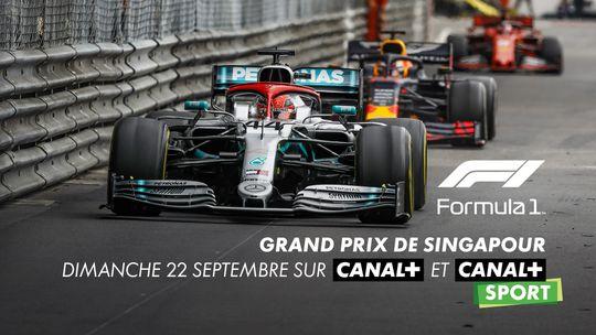 F1 TM Grand Prix Singapour dimanche 22 septembre sur CANAL+ et CANAL+SPORT