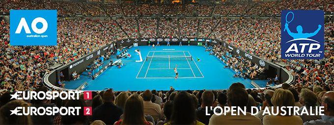Open d'Australie en janvier sur Eurosport 1 et Eurosport 2
