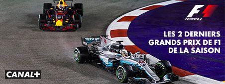Les 2 derniers grands prix de F1 de la saison en novembre sur CANAL+