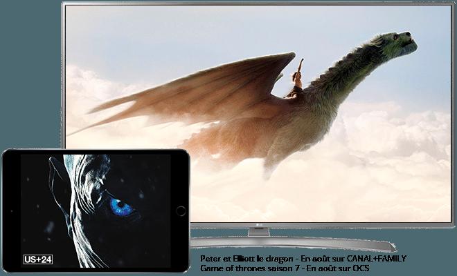 Peter et Elliott le dragon en août sur CANAL+ family / Game of Thrones en août sur OCS