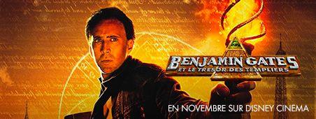 Benjamin Gates et le trésor des templiers en novembre sur Disney Cinema