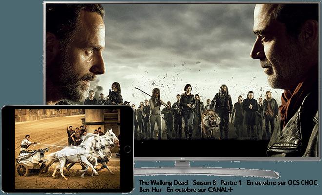 The Walking Dead en octobre sur OCS Choc / Ben-Hur en octobre sur CANAL+