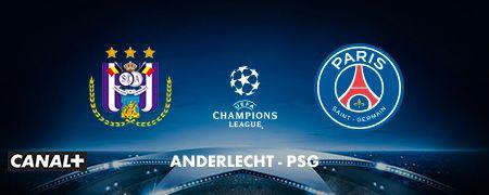 Anderlecht - PSG en octobre sur CANAL+