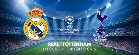Real - Tottenham en octobre sur beIN SPORTS