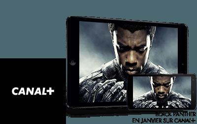 Black panther en Janvier sur CANAL+
