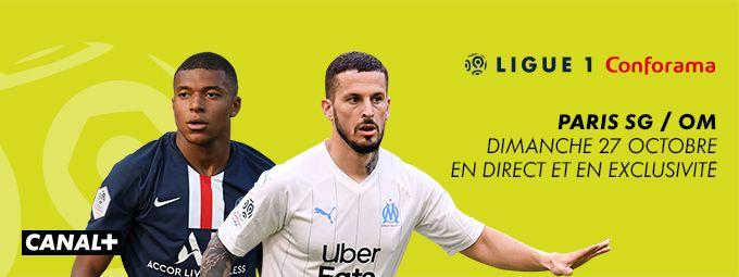 Ligue 1 Conforama - Paris SG / OM Dimanche 27 octobre à 21h00