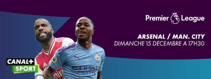 Premier League - Arsenal / Man. City - dimanche 15 décembre à 17h30