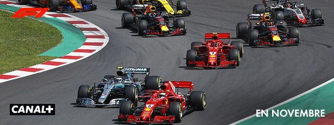 Formule 1 : 3 grands prix en Novembre sur CANAL+