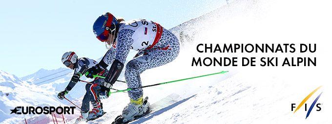 Championnats du monde de ski alpin en Février sur Eurosport