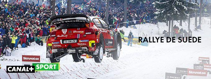 Rallye de Suède en Février sur CANAL+Sport