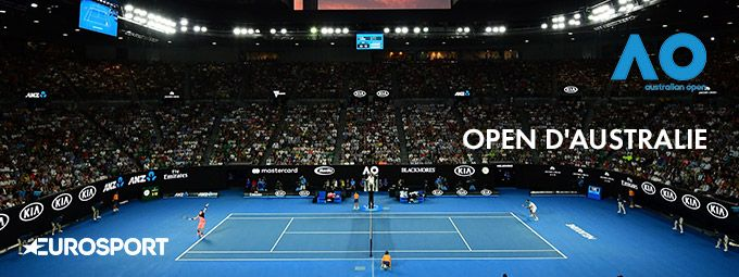 Open d'australie de tennis en Janvier sur Eurosport