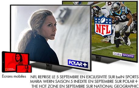 NFL Reprise le 5 Septembre en exclusivité sur bein SPORTS / Maria Wern Saison 5 Inédite en Septembre sur POLAR+ / The Hot Zone en Septembre sur National Geographic