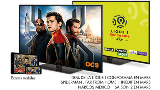 ligue 1 conforama saison 2019 - 2020 / Spider-man : Far from home - En mars sur OCS / Narcos Mexico - En mars sur NETFLIX