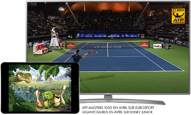 ATP Masters 1000 en Avril sur Eurosport / Gigantosaurus en Avril sur Disney Junior