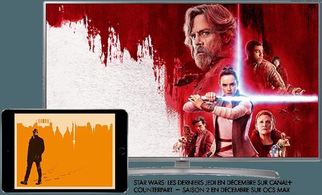 Star wars : les derniers Jedi en décembre sur CANAL+ / Counterpart - saison 2 en décembre sur OCS max