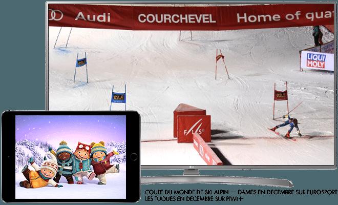 Coupe du monde de ski - femmes en décembre sur Eurosport / Les tuques en décembre sur Piwi+