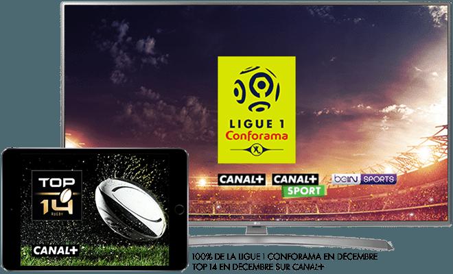 Ligue 1 Conforama en décembre sur CANAL+ / Top 14 en décembre sur CANAL+