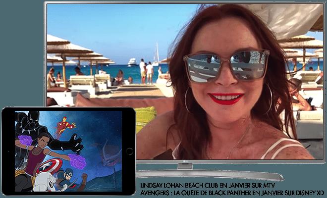 Lindsay Lohan Beach Club en Janvier sur MTV / Marvel's avengers : la quête de black panther en Janvier sur Disney XD