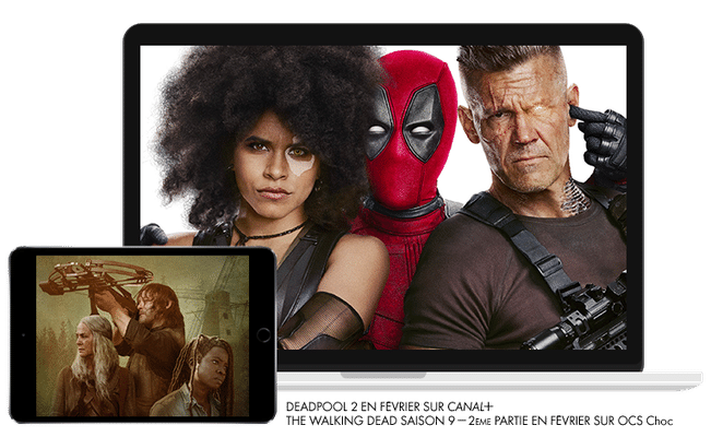 Deadpool 2 en Février sur CANAL+ / The Walking Dead saison 9, 2eme Partie en Février sur OCS CHOC