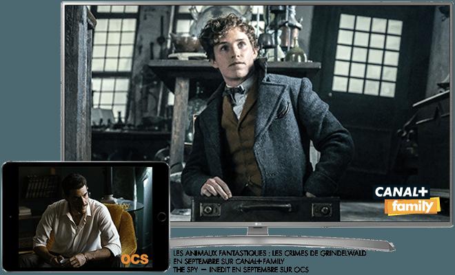 Les animaux fantastiques - Les crimes de Grindelwald en Septembre sur CANAL+Family / The spy - Inédit en Septembre sur OCS