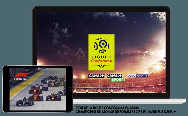 Ligue 1 Conforama saison 2019/2020 en Mars sur CANAL+, CANAL+ Sport et beIN Sport / Championnat du monde de Formule 1 2019  en Mars sur CANAL+
