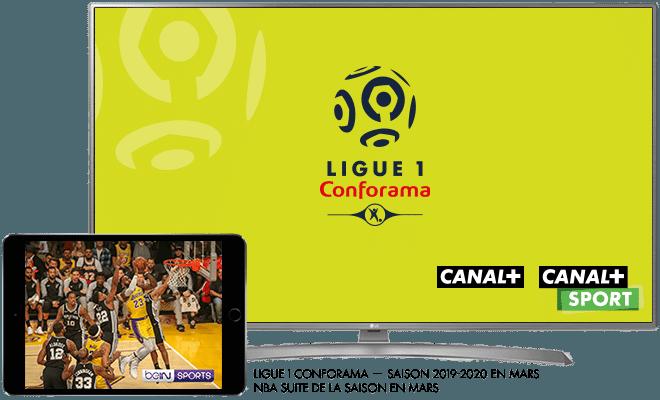 Ligue 1 Conforama Saison 2019 - 20120 sur CANAL+ et CANAL+SPORT / NBA reprise de la saison en mars sur CANAL+ et CANAL+SPORT