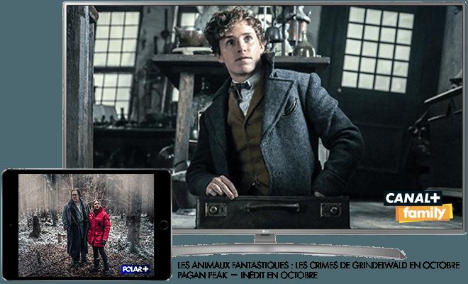 Les animaux fantastiques - Les crimes de Grindelwald en octobre sur CANAL+Family / Pagan Peak - Inédit sur Polar+