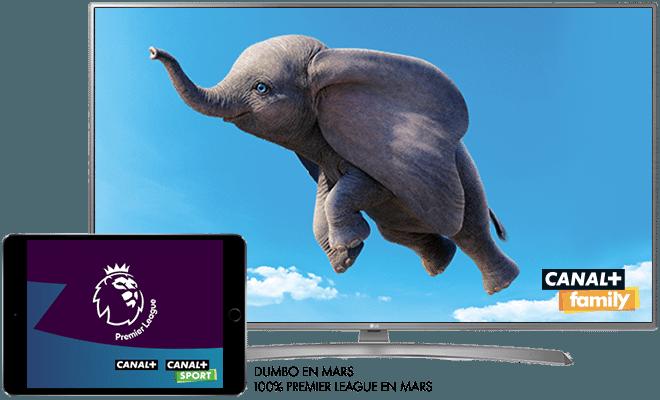 Dumbo en mars sur CANAL+ / 100 % de la Premier League sur CANAL+ et CANAL+SPORT
