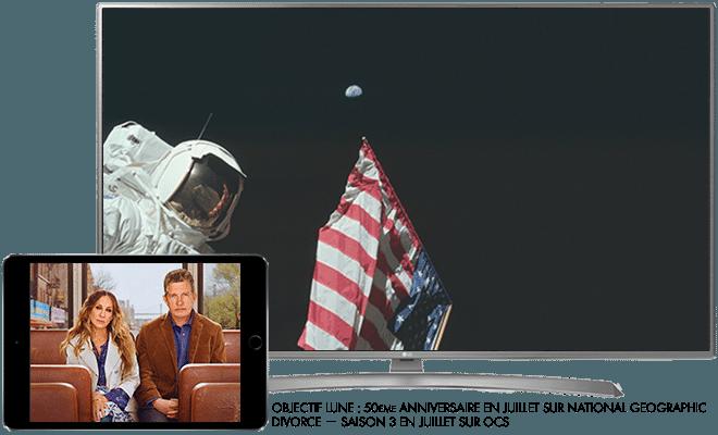 Objectif Lune : 50ème anniversaire cet été sur National Geographic / Divorce Saison 3 - Cet été sur OCS