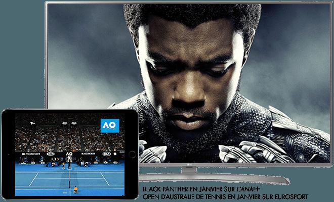 Black panther en Janvier sur CANAL+ / Open d'australie de tennis en Janvier sur Eurosport