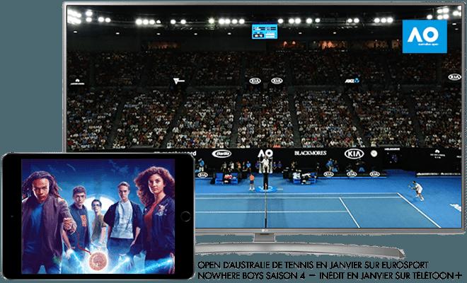 Open d'australie de tennis en Janvier sur Eurosport / Nowhere boys saison 4 en Janvier sur Télétoon+