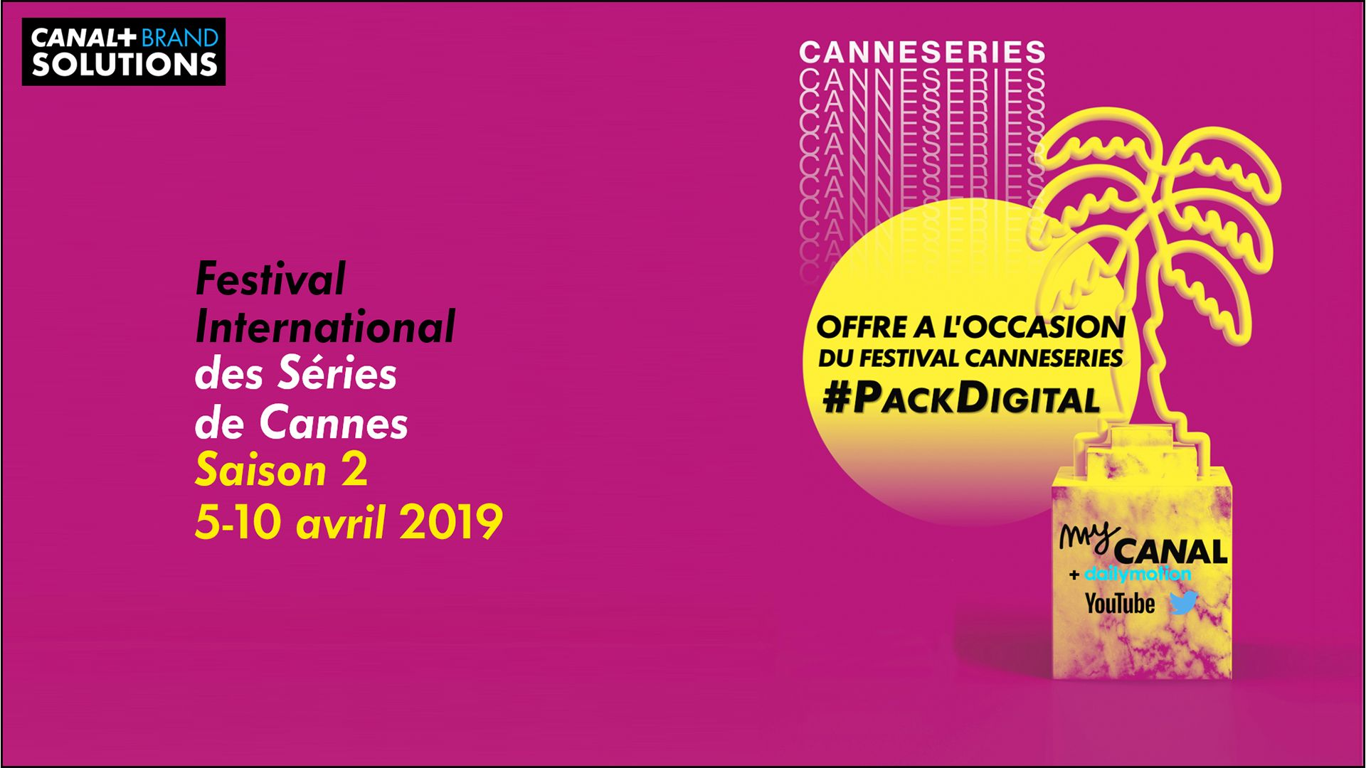 Pack digital Canneseries 2019
