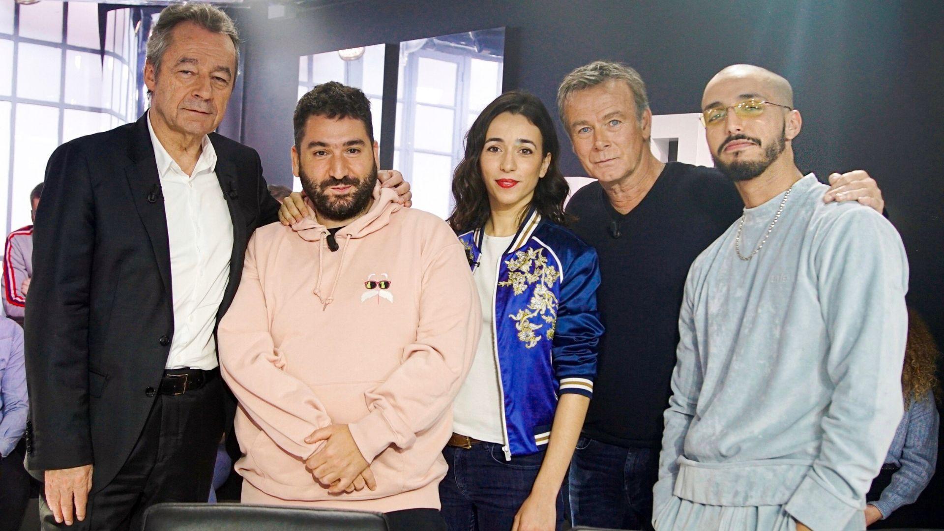 Michel Denisot, Franck Dubosc, Sophie Mourousi et Tawsen parlent télé dans Clique