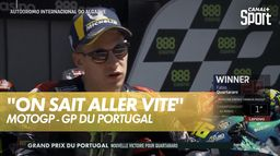 "Quartararo : ""On sait comment faire pour aller vite"" : Grand prix du Portugal"